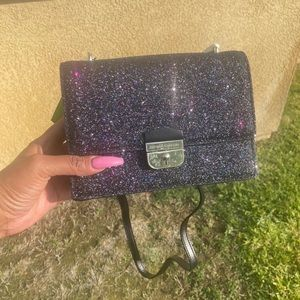 KATE SPADE bling purple and black purse , NWT